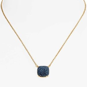 kate spade Jewelry - NWT Kate Spade Square Pave Pendant necklace Blue